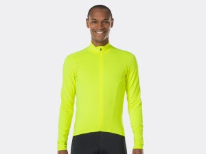Bontrager Trikot Velocis Thermal LS L Visibility Yellow